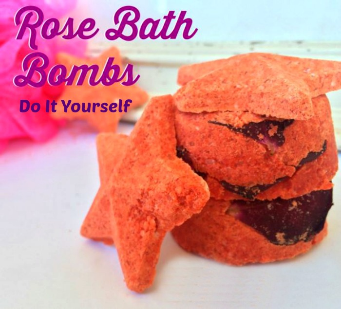 DIY Rose Bath Bombs - Beauty Awesome