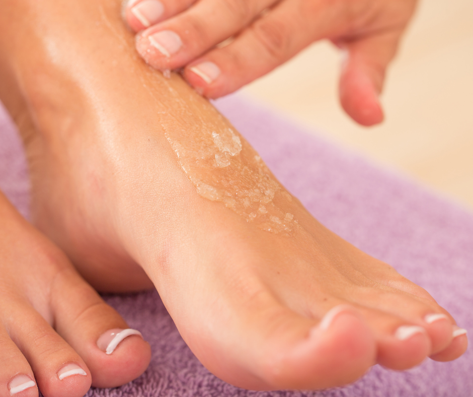 How to Make a Foot Scrub for Women Easy-Peasy