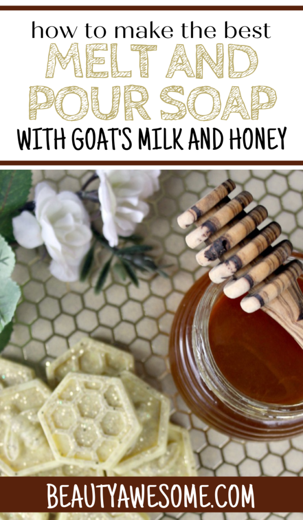 How to Make Melt and Pour Soap: Honeybee Glitter